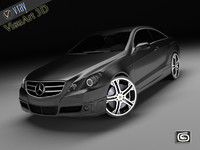 3d mercedes e brabus car model