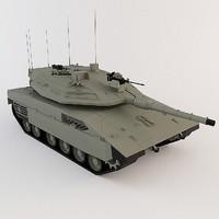 3d model of tank merkava