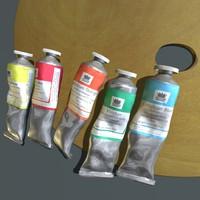 3dsmax oil paint tubes palette