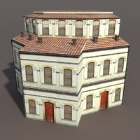 Apartment House #97 Low Poly 3d Model