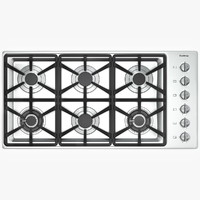 Gas Cooktop with Six Burners