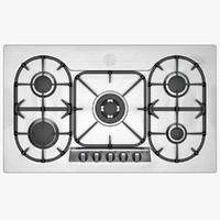 Wide Gas Hob with Five Rings