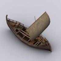 Low-poly Greek trade ship