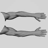 realistic human arm 3d model
