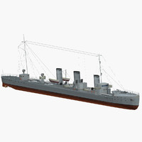 german torpedo battleship 1916 3d model