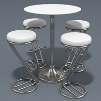 bar stool table 3d model