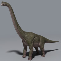 3d dinosaur brachiosaurus