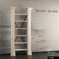 bookcase books dialma brown 3d model