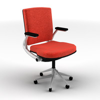 classroom office chair 3d model