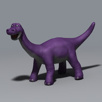 3d dinosaur cartoon model