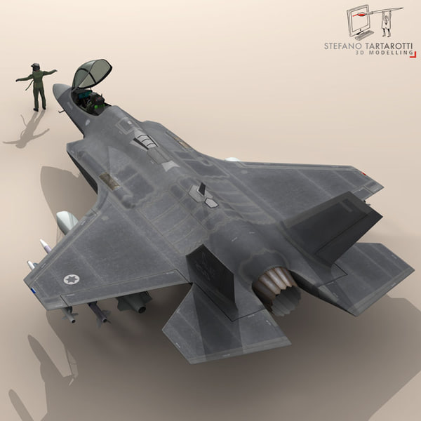 3d pilot - air force model - F35A - Israeli Air Force... by tartino