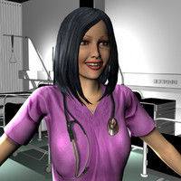 3d ma female medical staff