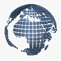 Globe Earth Squares