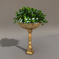 c4d flower stand