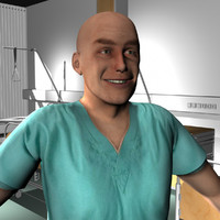 3d model of male medical staff