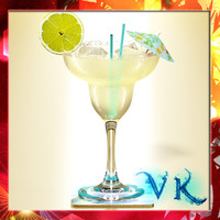Margarita Cocktail - High Detailed