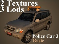 3d model police car 3 basic