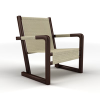 obj canvas recliner chair