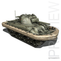 3d m4a1 sherman duplex drive model