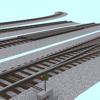 pack interchangeable track section 3d model