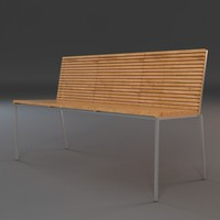 3d model outdoor bench