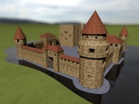 Medieval Castle With Environment