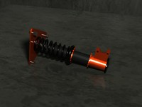 free coilover suspension 3d model