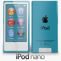 3d model of apple ipod nano 2012
