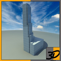 miami tower skyscraper 3d model