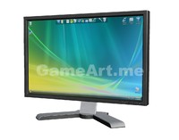 ready computer pc lcd monitor 3d max