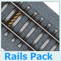 3d rails turnouts