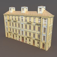 3ds max building exterior modeled
