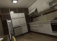 3d kitchen furnitures 03 model