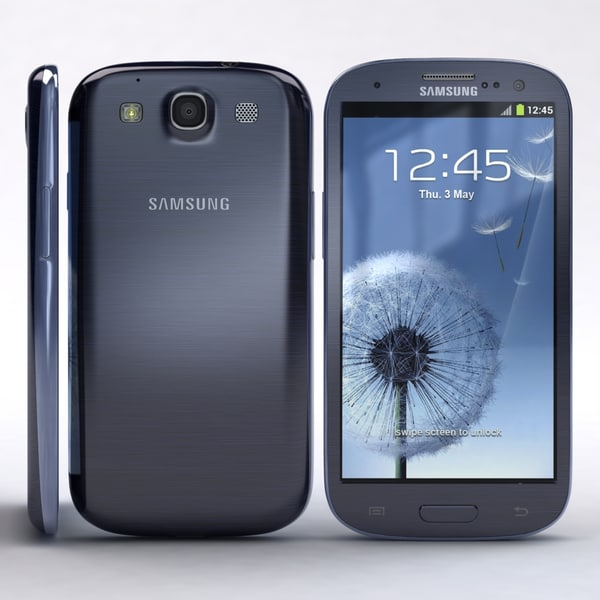 samsung i9300 galaxy s3 3d max - Samsung I9300 Galaxy S3 Pebble Blue... by 3dtoss