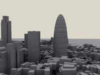 swiss london block 3d max