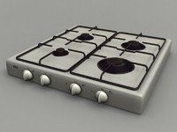 burner gas cooker 3d max