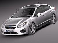 3d model subaru impreza 2013 sedan