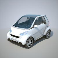 3ds max 2011 smart fortwo car
