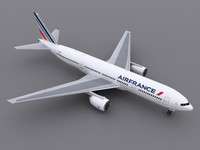 aircraft air france 3d model