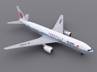 aircraft air china 3d model