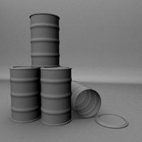 3d model oil drums