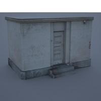 small building 3d max