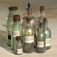 dxf old apothecary bottles