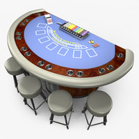 3d model casino blackjack table -