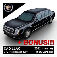 3ds max 2009 cadillac dts limousine
