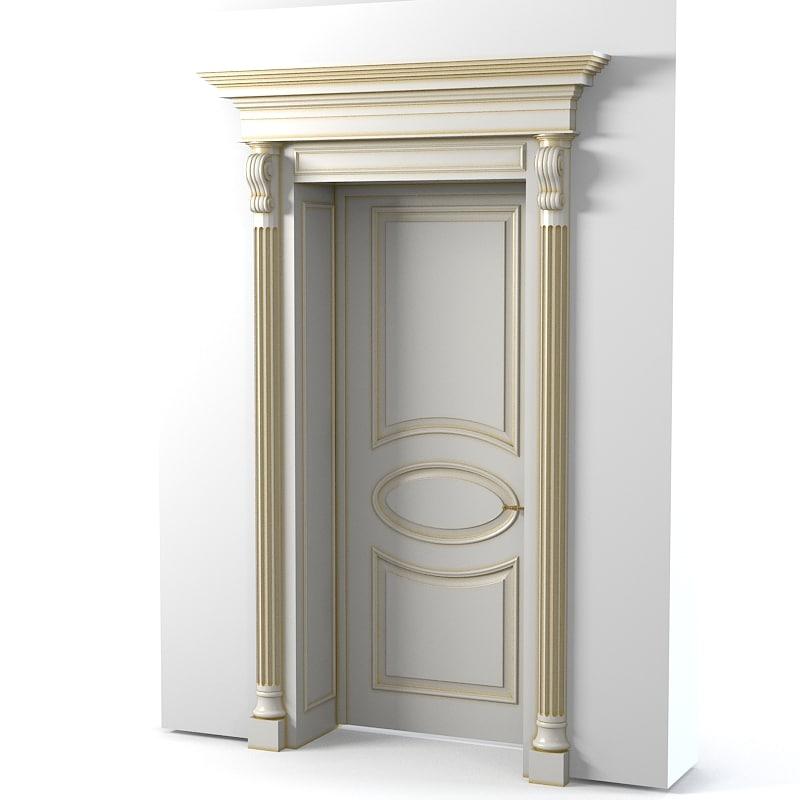 3d model classic door portal for Door 3d model