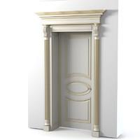 3d model classic door portal