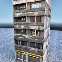 house building architecture 3d 3ds