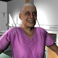 3d model male medical staff