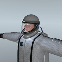3d spacesuit original rigged model